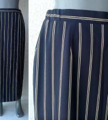 suknja duga teget pruge br 36 ili 38