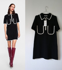 Rezz ZARA contrast-trim haljina