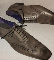NOVE lux šmekerske sive kožne zumbane cipele