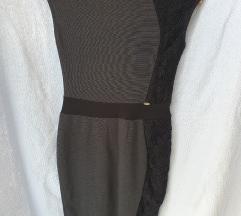 Sivo, crna haljina