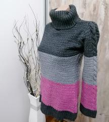 Trobojni zimski džemper