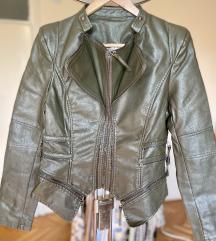 Maslinasta jakna 2u1