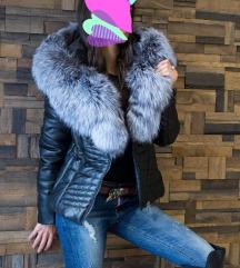 Akcija Kozna jakna sa krznom lisice XXL