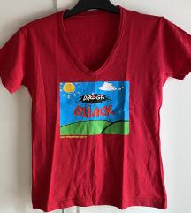 Crvena majica sa printom