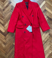 Siroki kaput sa vunom, Zara NOVO