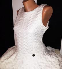 Click Fashion bela haljina sa radom