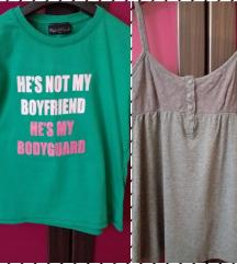2 majice Bershka i Planet Hollywood S