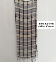 Sivo - krem marama šal