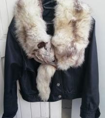 Kozna jakna sa polarnom lisicom 38