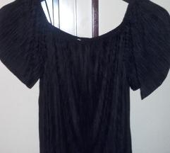 Crna plisirana bluzica