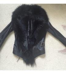 Nova kožna jakna sa krznom polarne lisice