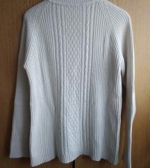 Beli rolka džemper