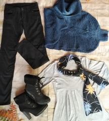 pantalone, dzemper i bluza