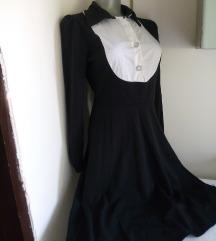 Nova GL crna haljina sa belim S/M