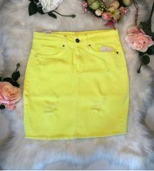 Neon zuta suknja