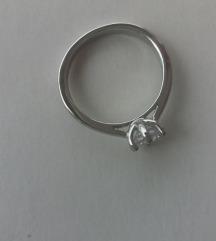 Prsten sa kamencicem Sterling silver NOVO