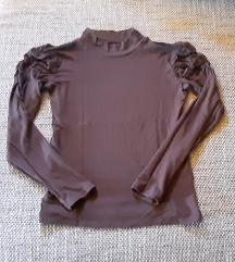 braon majica sa puf rukavima