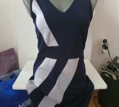 Teget-bela haljina