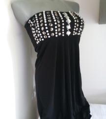 Lady Elite top crna sa kristalima S/M