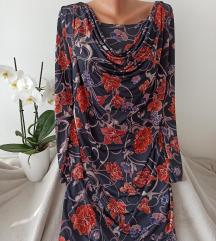 Cvetna haljina sa dugim rukavima vel M/L