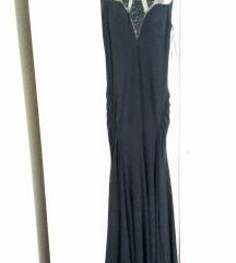 Duga, crna, svečana haljina