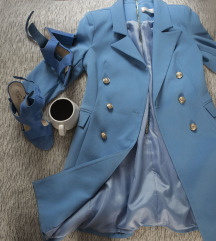 rezz Noix golubijeplava haljina/ sako, vel. 36