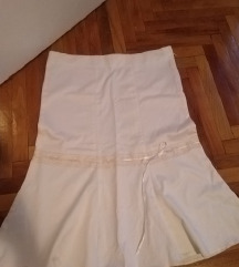 Bela suknja NOVO vel.L/XL