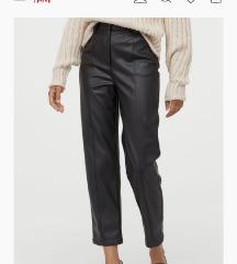 NOVO SA ETIKETOM! H&M Kozne pantalone