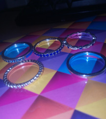 Prstenje sa plavim cirkonima