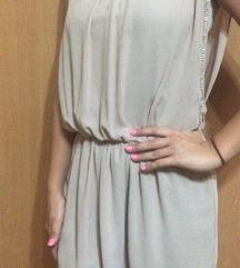 Elegantna bež haljina sa cirkonima