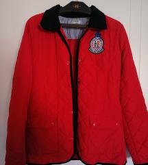 Crvena štepana jakna S