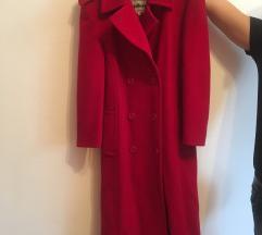 Crveni kaput snizeno! 100% vuna snizeno