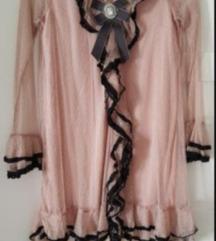 Puder roze cipka haljina