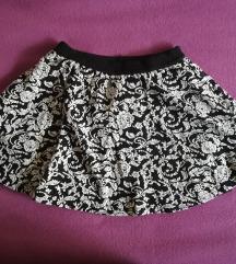 Zimska mini suknja sa podsuknjom