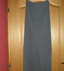 Siva trikotažna suknja