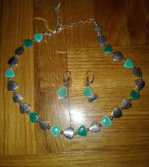 Prelep srebrno-zeleni set NOVO-500 din