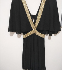 Crno-zlatna haljina