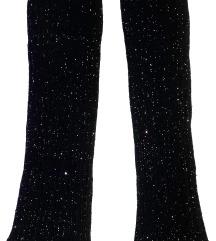 Grejači za noge - crne sa šljokicama
