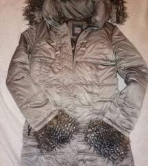 Zimska jakna, kao nova, l/xl, pravo krzno