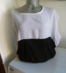 Amisu crno bela bluza S/M