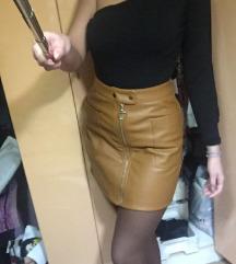 Amisu kozna high waist suknja nova
