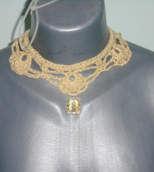 Choker - Prelepe heklane ogrlice - rucni rad UNIKA