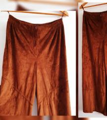 Suede palazzo pantalone