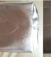 Yves Saint Laurent argent pouch, original