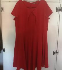 Crvena haljina, za krupnije dame