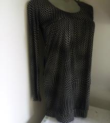 Trend crno bela tunika M