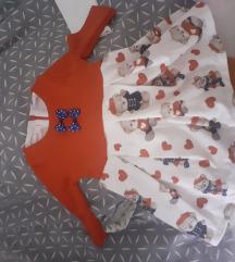 Haljina za devojcice NOVO 6-9 meseci