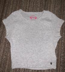 Siva crop majica
