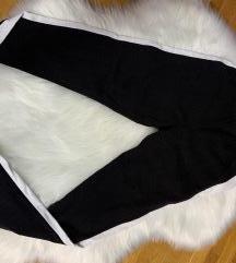 Crno bele pamucne helanke
