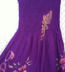 Ljubičasta letnja midi haljina
